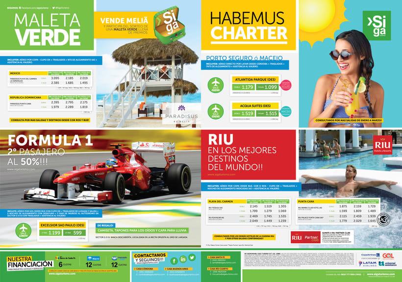Publicidad Gráfica y Tarifarios | Siga Turismo 2017 2