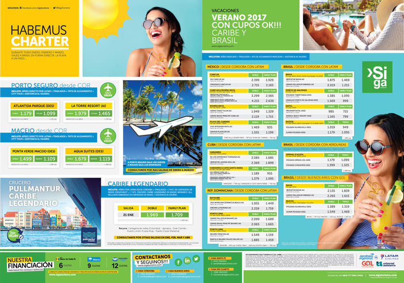 Publicidad Gráfica y Tarifarios | Siga Turismo 2017 3