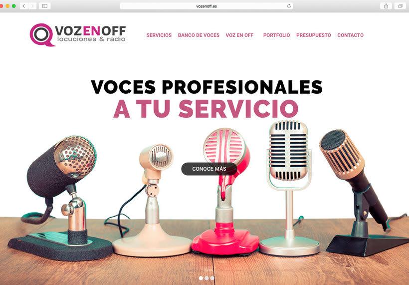 Página web Voz en Off 0