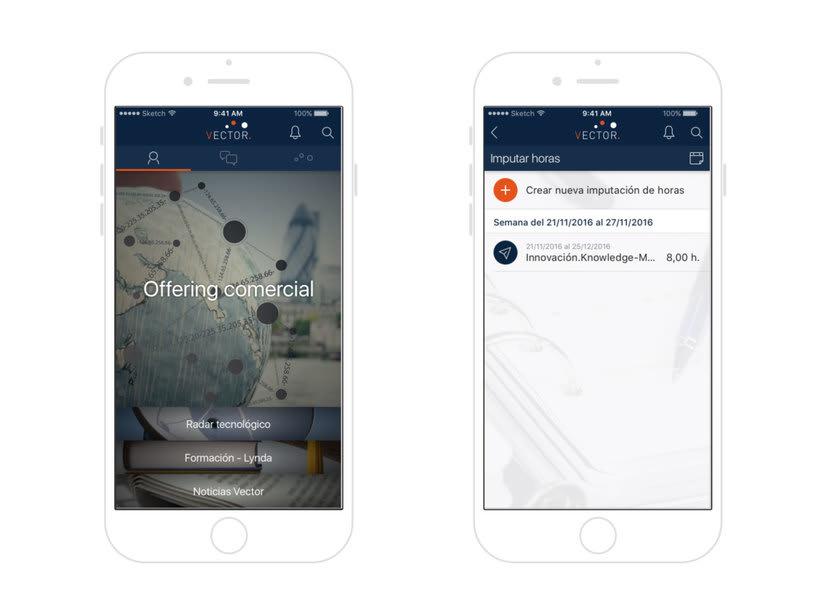 Vector Digital mobile app 1