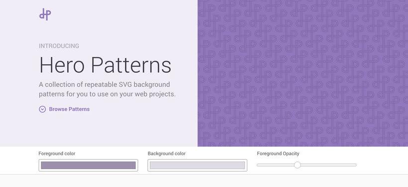 Heropatterns: un repositorio de patrones vectoriales y gratuitos 1