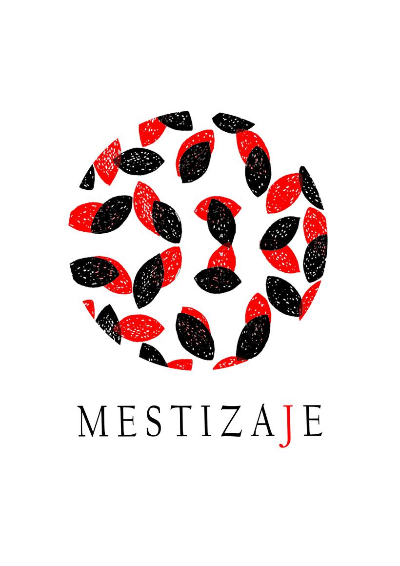 Diseño etiqueta vino Mestizaje -1