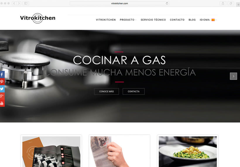 Página web Vitrokitchen 0