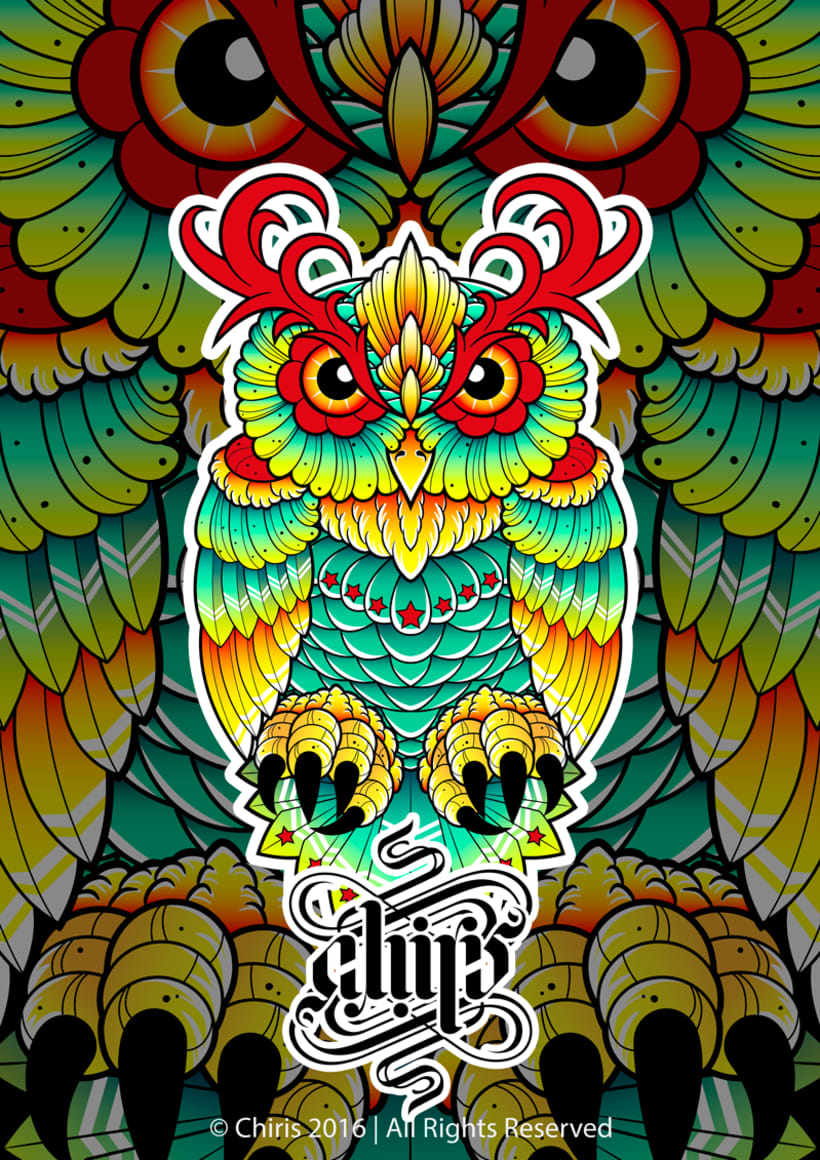 Neo Traditional Owl -1