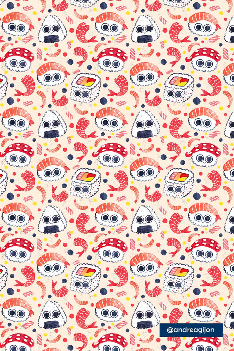 Sushi Patterns 3
