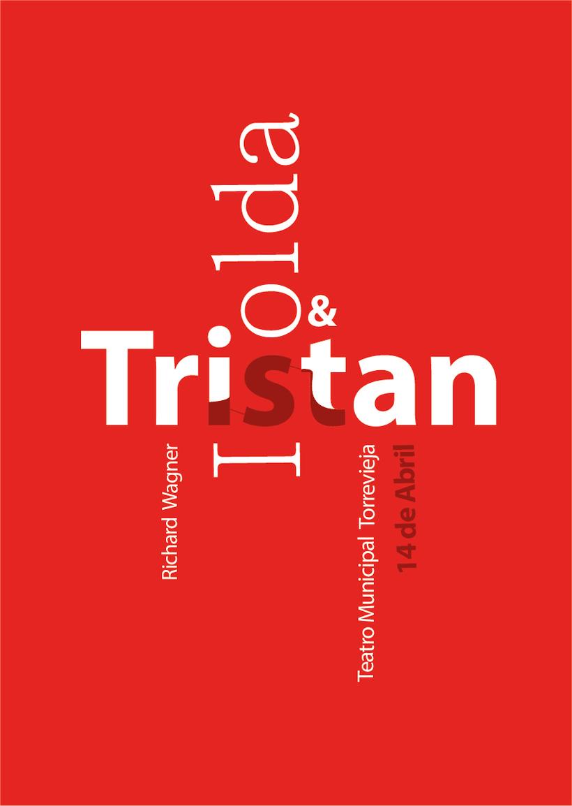 Primer cartel tipográfico para la opera Tristan&Isolda -1