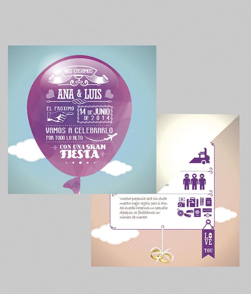 Diseño de invitaciones para bodas y bautizos. 0