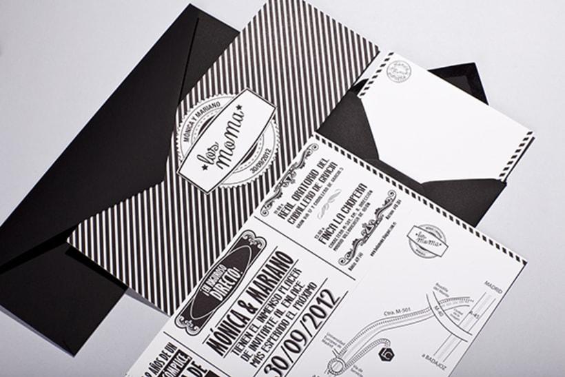Diseño de invitaciones para bodas y bautizos. 5