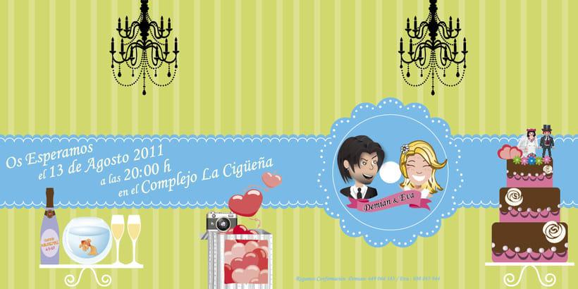 Diseño de invitaciones para bodas y bautizos. 3