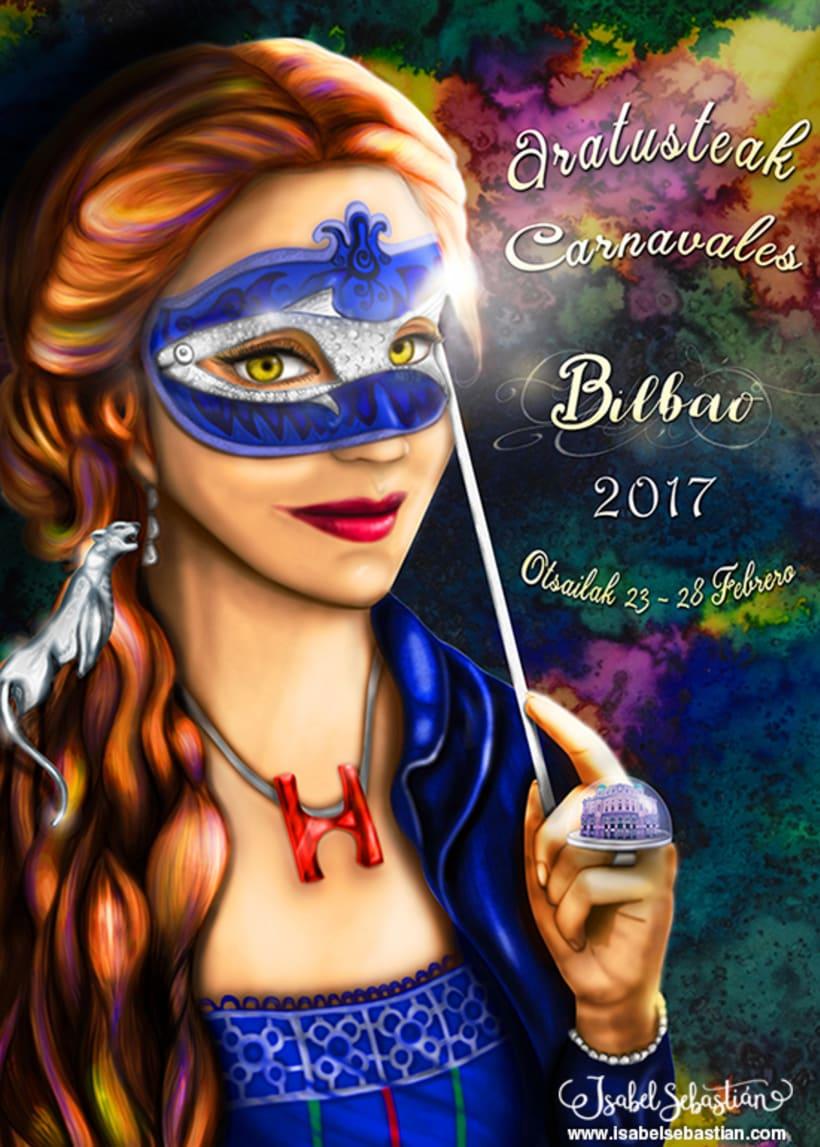 Cartel carnavales de Bilbao 2017 0