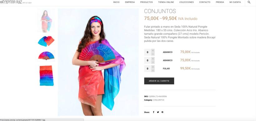 Web con tienda online, para un cliente. 5