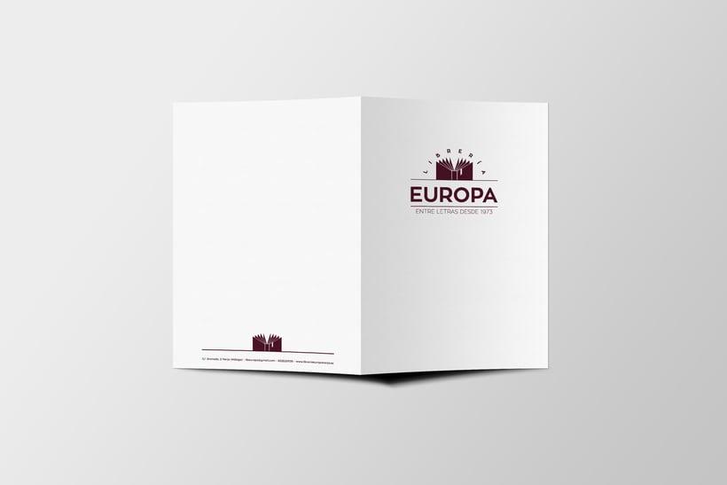 Diseño imagen corporativa Librería Europa  4