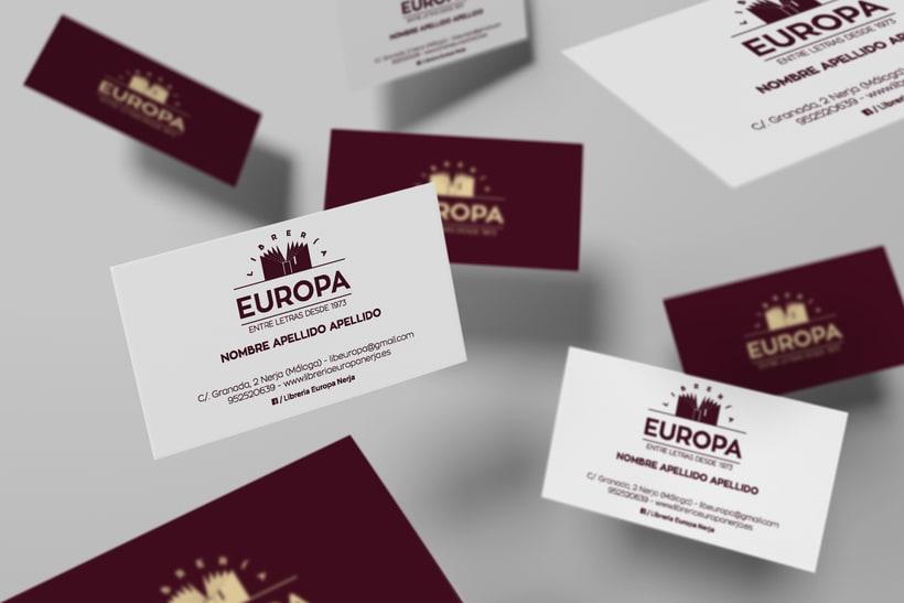 Diseño imagen corporativa Librería Europa  3
