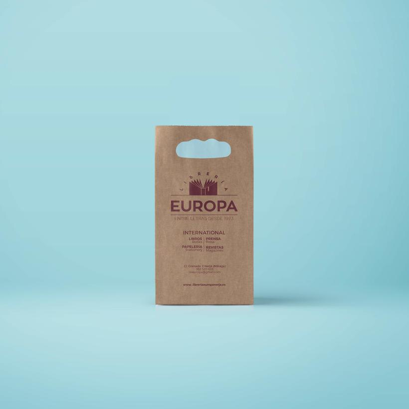 Diseño imagen corporativa Librería Europa  2