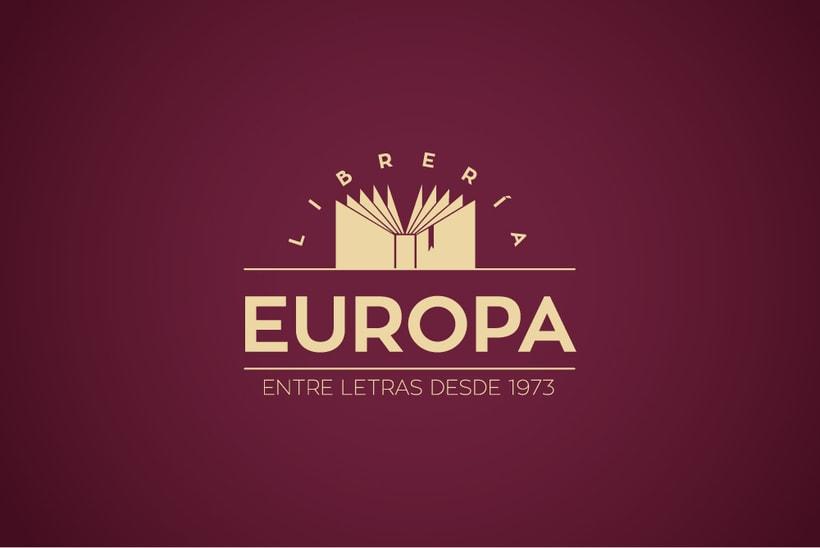 Diseño imagen corporativa Librería Europa  0