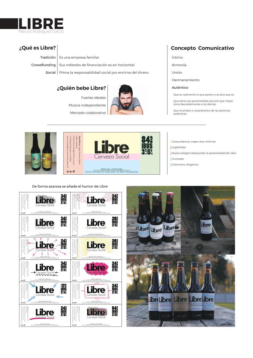 Etiqueta Cerveza - Libre 0