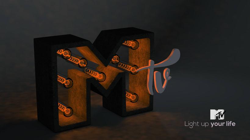 Letra 3D con luces -1