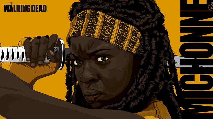 Michonne The Walking Dead by RexNuevo proyecto 0