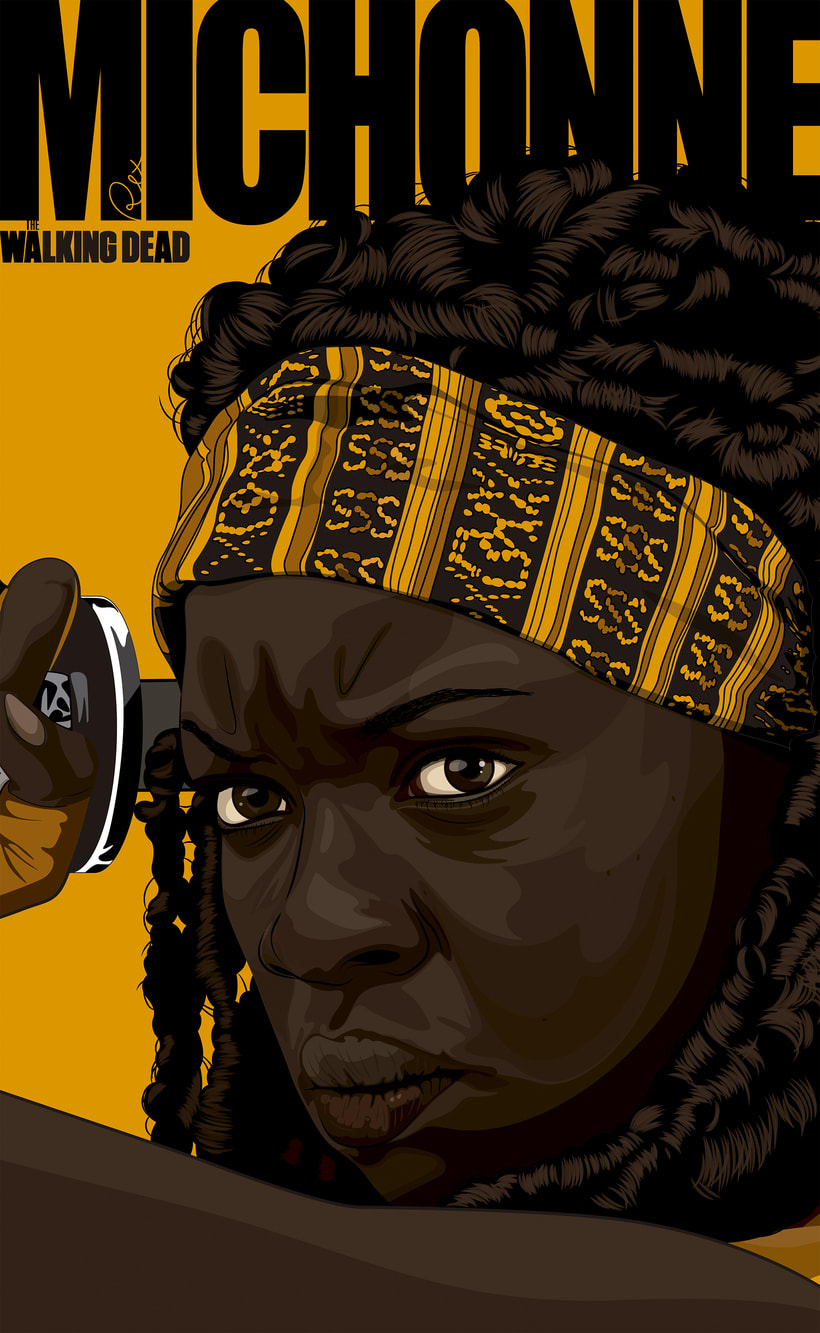 Michonne The Walking Dead by RexNuevo proyecto 1