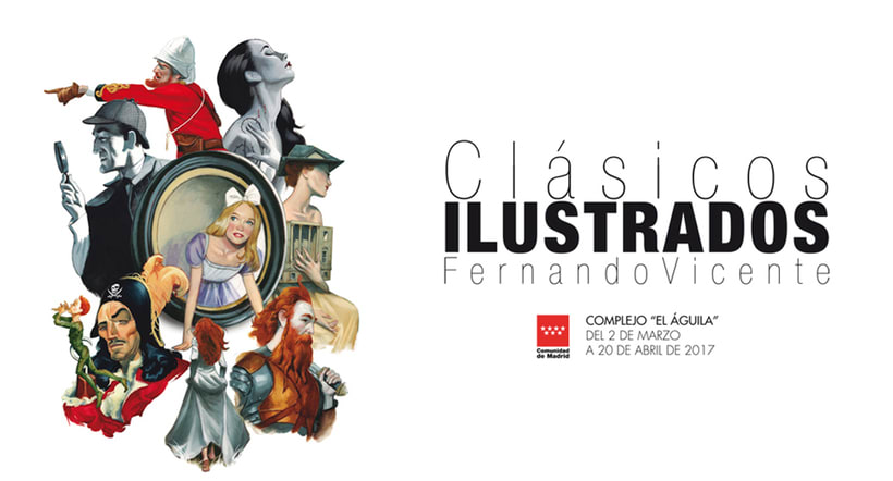 Exposición Clásicos Ilustrados Fernando Vicente 0