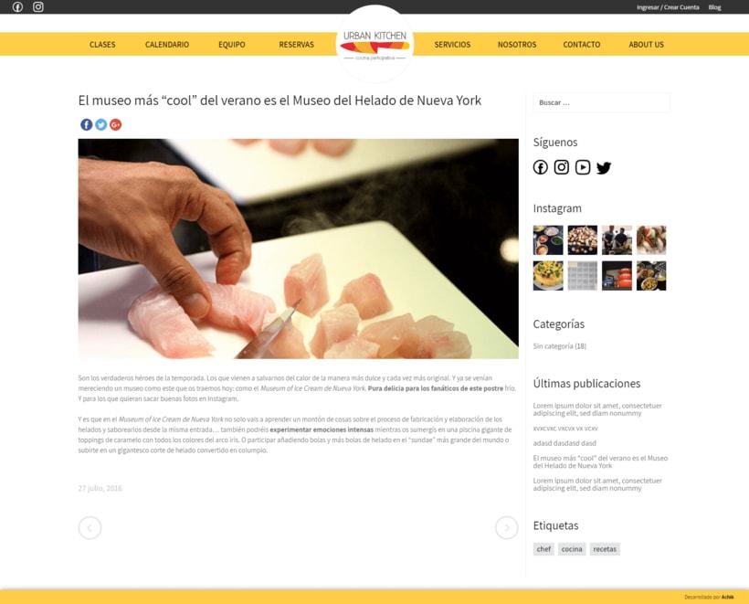 Urban Kitchen - Actualización de la Web y desarrollo del blog 4