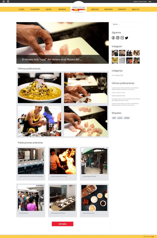 Urban Kitchen - Actualización de la Web y desarrollo del blog 2