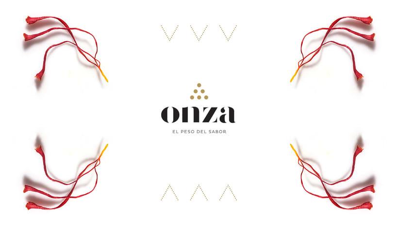 Onza Azafrán. Branding 2
