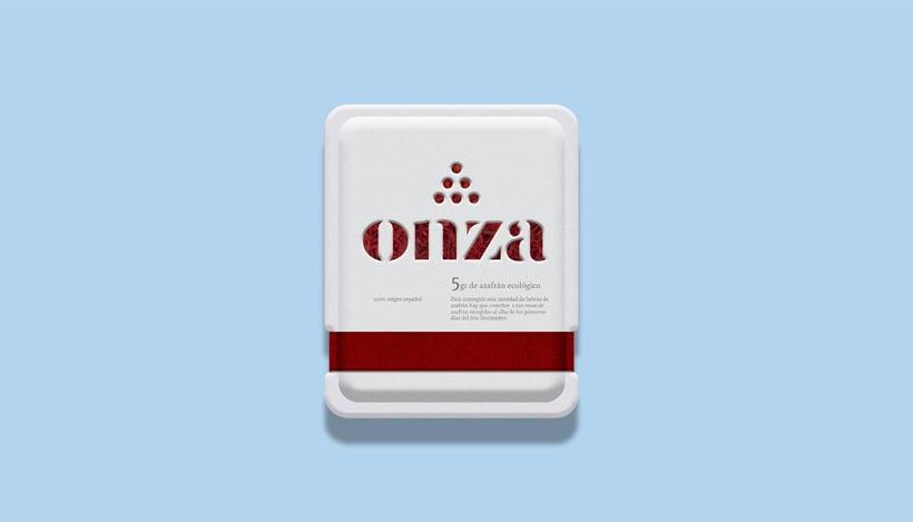 Onza Azafrán. Branding 3