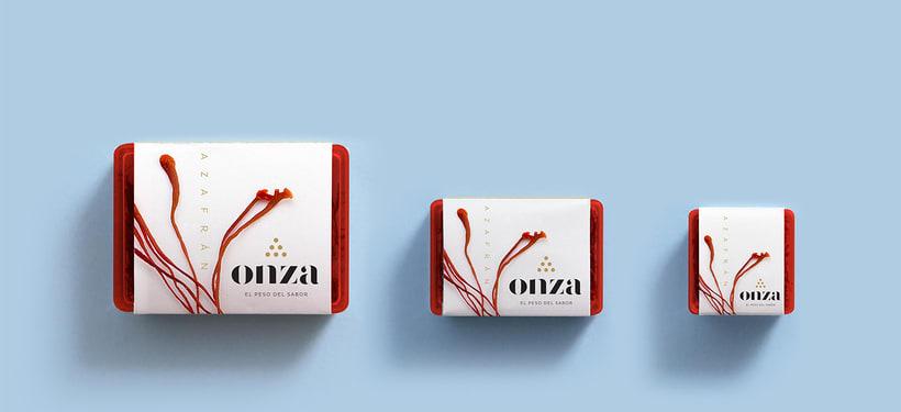Onza Azafrán. Branding 5