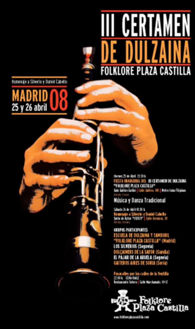 Carteles Certamen de dulzaina y tambor Folklore Plaza Castilla 7