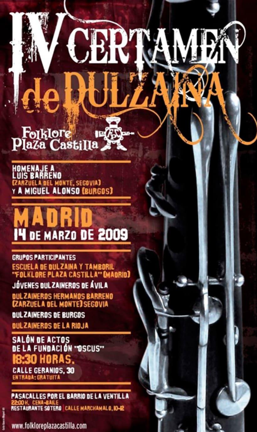 Carteles Certamen de dulzaina y tambor Folklore Plaza Castilla 6