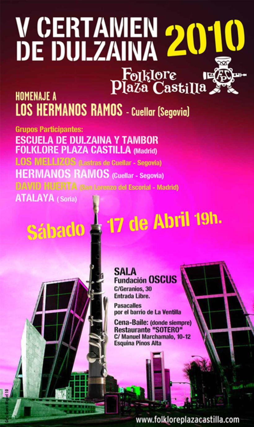 Carteles Certamen de dulzaina y tambor Folklore Plaza Castilla 5