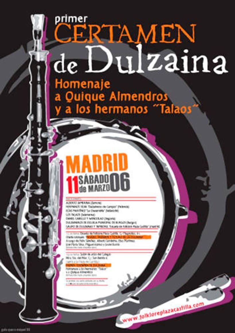 Carteles Certamen de dulzaina y tambor Folklore Plaza Castilla 9