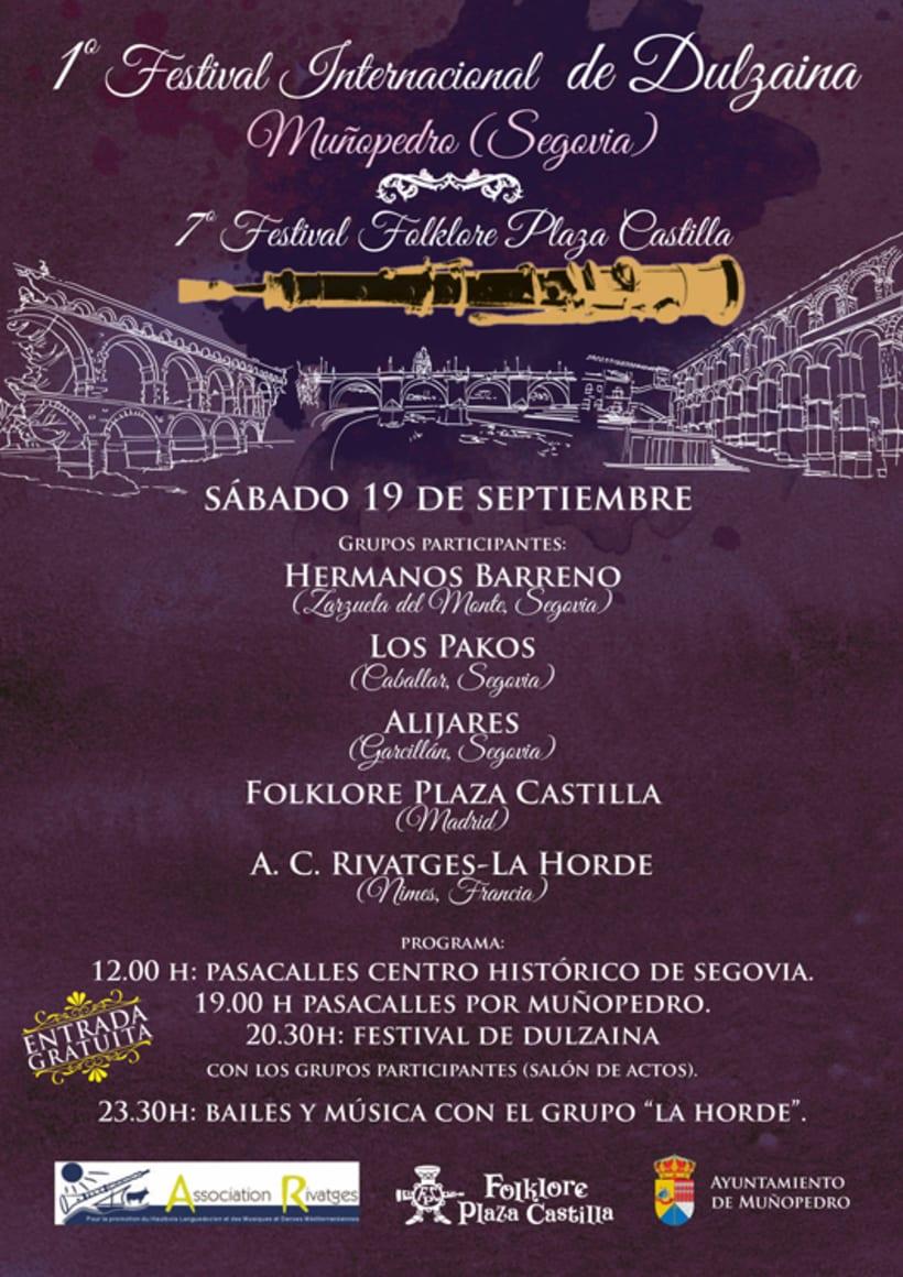 Carteles Certamen de dulzaina y tambor Folklore Plaza Castilla 2