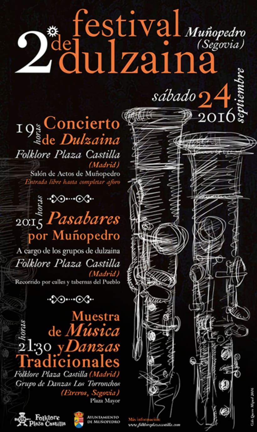 Carteles Certamen de dulzaina y tambor Folklore Plaza Castilla 1