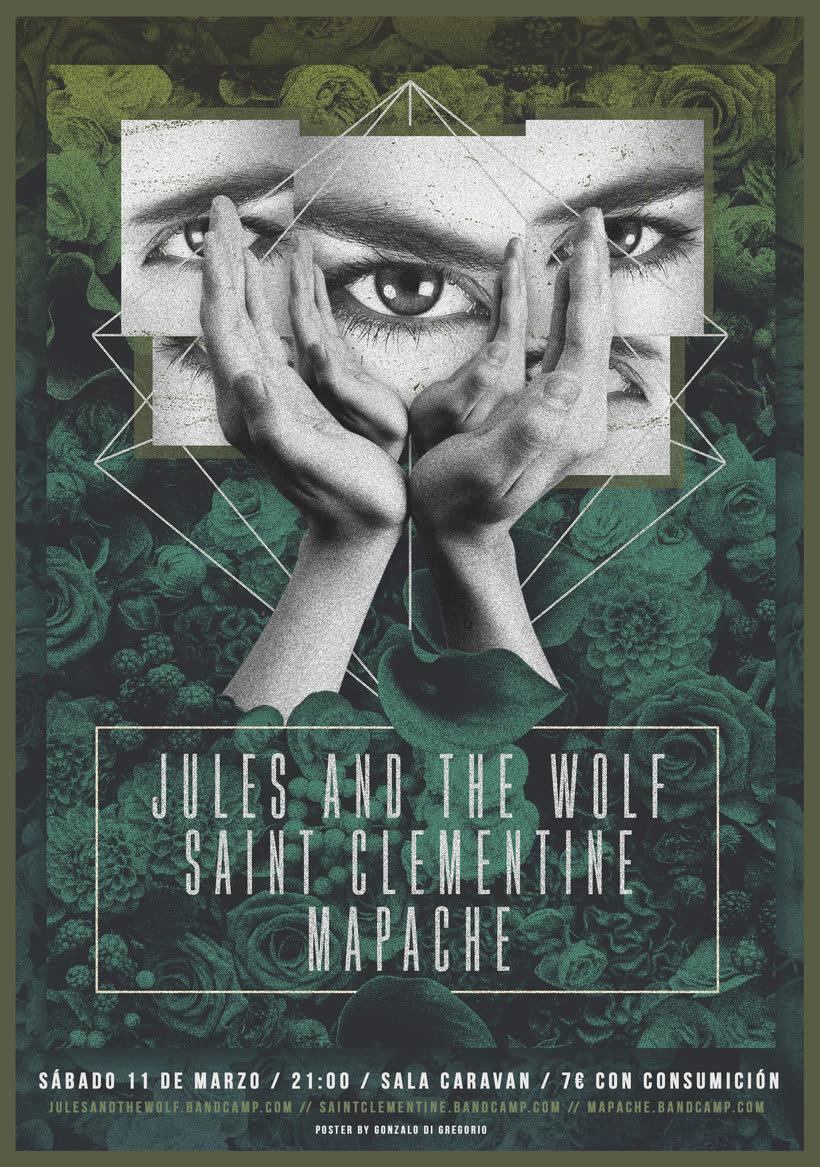 Jules & The Wolf + Saint Clementine + Mapache 0
