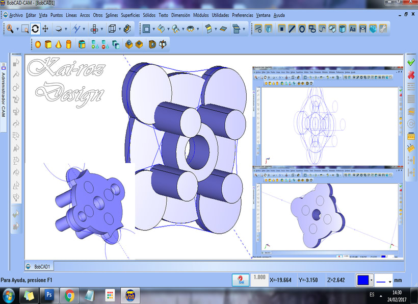 geometría CAD y generar código para Modelado de piezas -1
