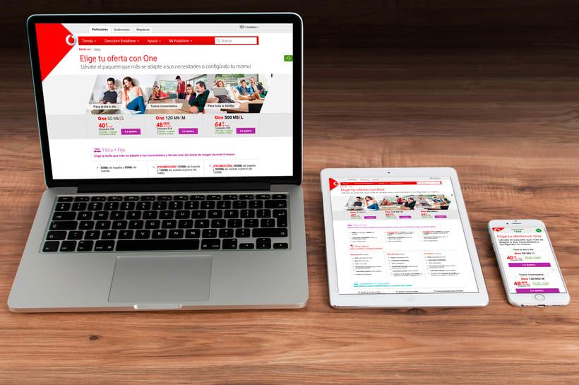 Vodafone Web design - Comparador de Oferta 0