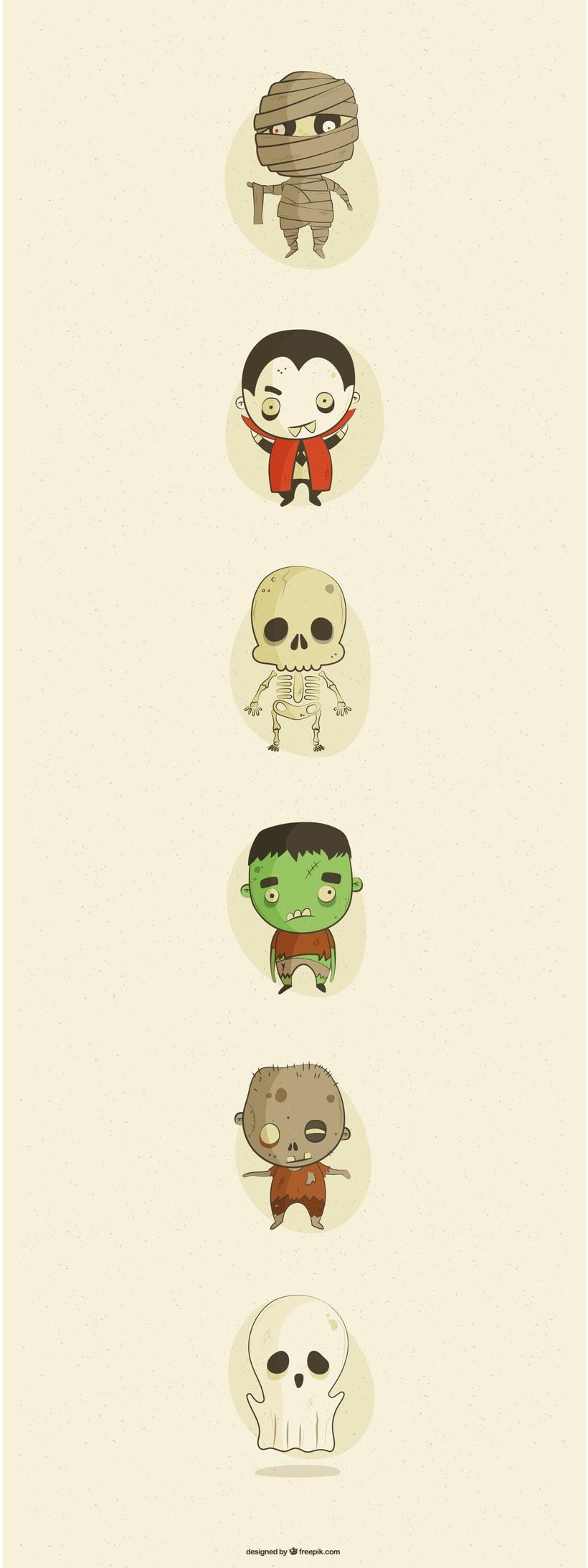 Ilustración Personajes Halloween 1