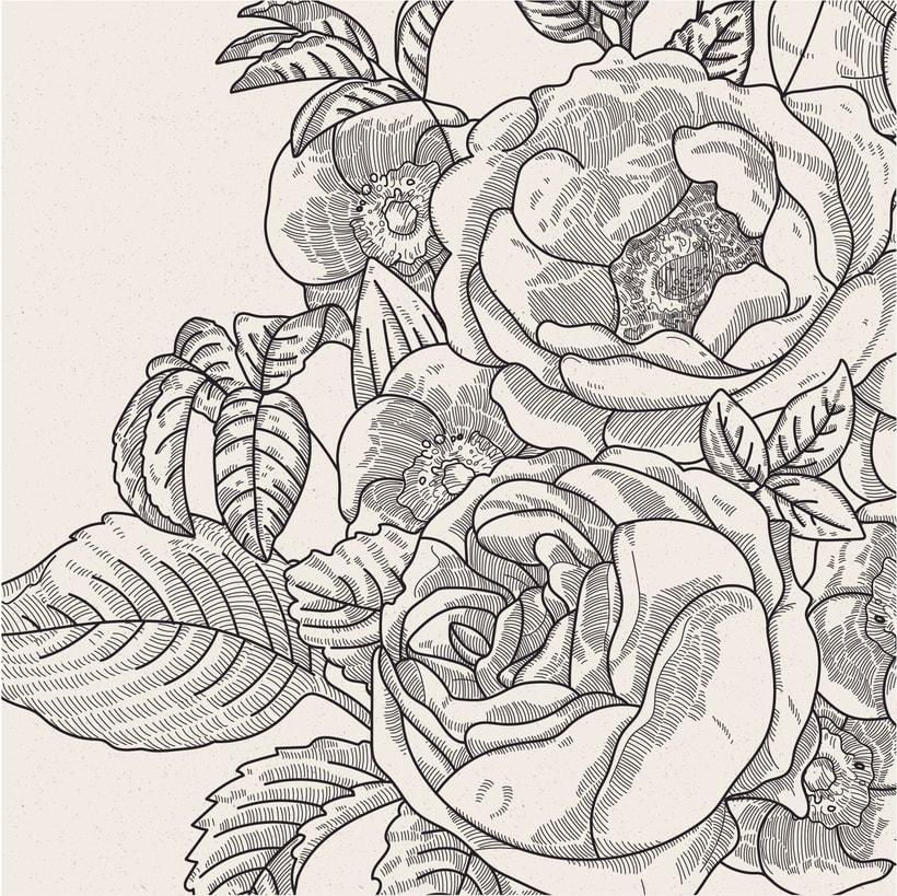 Ilustración vectorial fondo floral 2