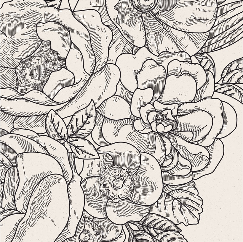 Ilustración vectorial fondo floral 3
