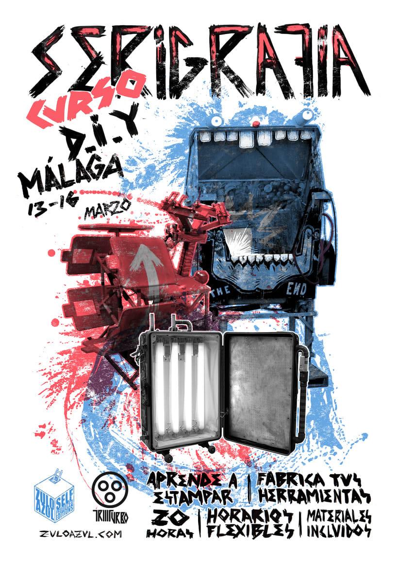 Taller de serigrafía D.I.Y ZULOAZUL (Málaga) (Madrid) 1