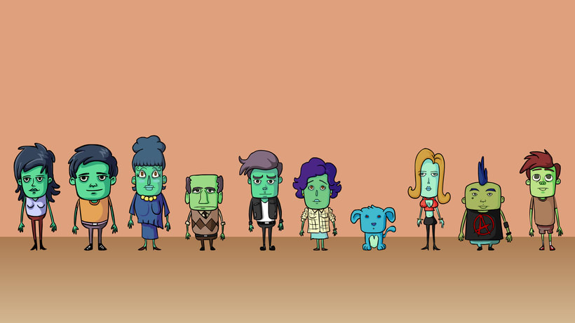 Vecinitos: Creación de un microuniverso de personajes, enfocados a una miniserie animada. 5