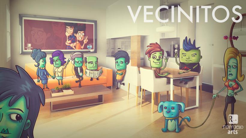 Vecinitos: Creación de un microuniverso de personajes, enfocados a una miniserie animada. 6