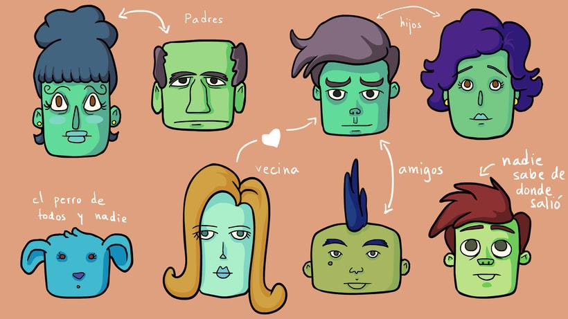 Vecinitos: Creación de un microuniverso de personajes, enfocados a una miniserie animada. 4