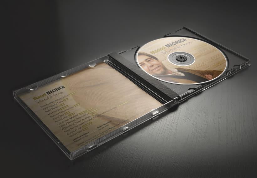 """Diseño discográfico """"Manuel Machuca"""" 1"""