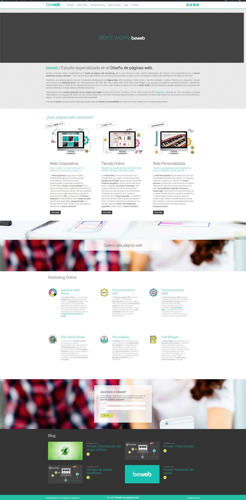 Página del estudio beweb 1