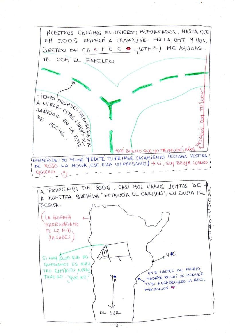 """Mi proyecto en """"Narrar en viñetas con un boli"""" (Faltan algunas páginas, pero las omití porque llevan fotos)  2"""