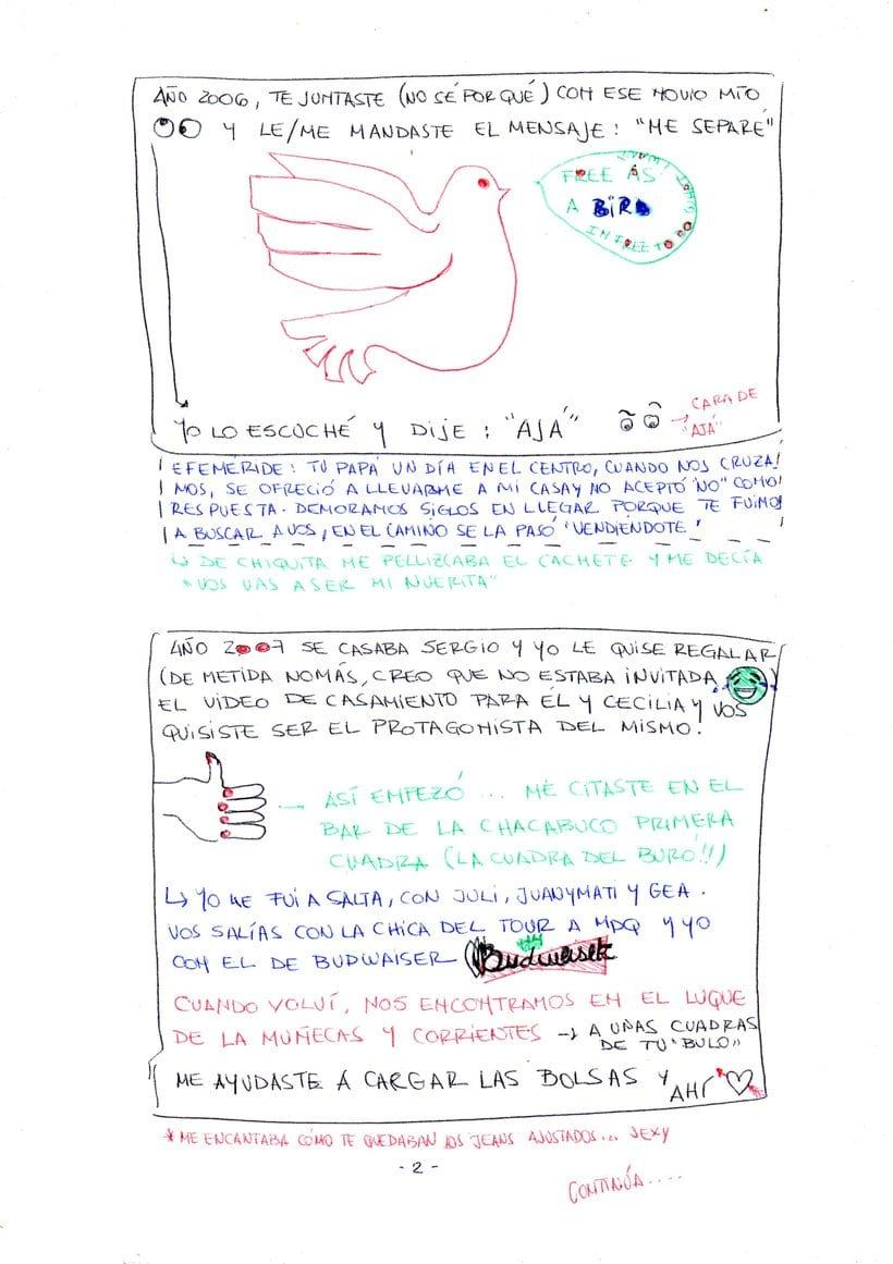 """Mi proyecto en """"Narrar en viñetas con un boli"""" (Faltan algunas páginas, pero las omití porque llevan fotos)  3"""