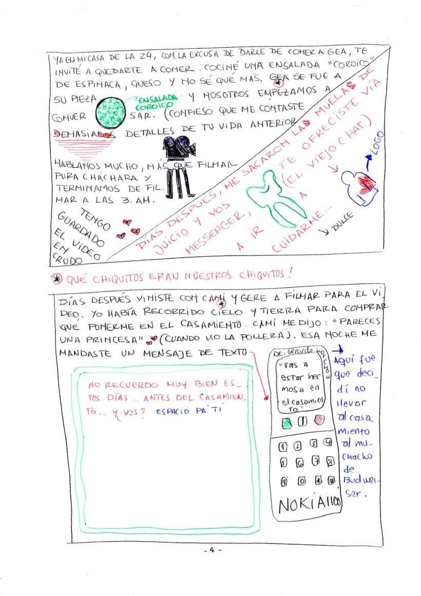 """Mi proyecto en """"Narrar en viñetas con un boli"""" (Faltan algunas páginas, pero las omití porque llevan fotos)  4"""